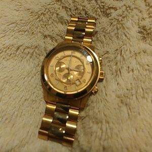 Michael Kors Rose Gold big face watch